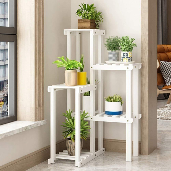 stand de fleurs à l'intérieur simple à quelques niveaux