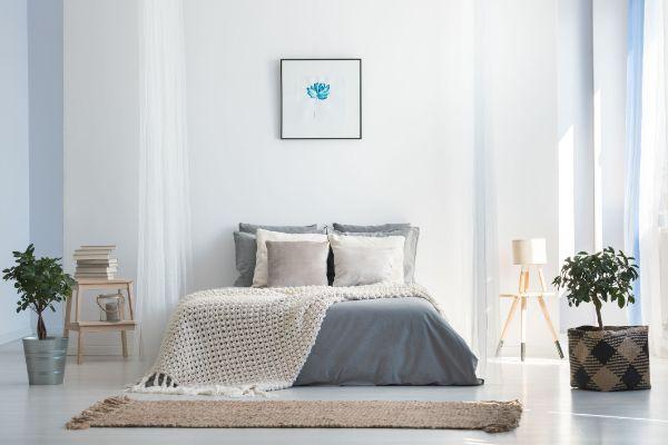 tapis fibre naturelle en jute chambre