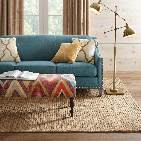tapis fibre naturelle jute salon