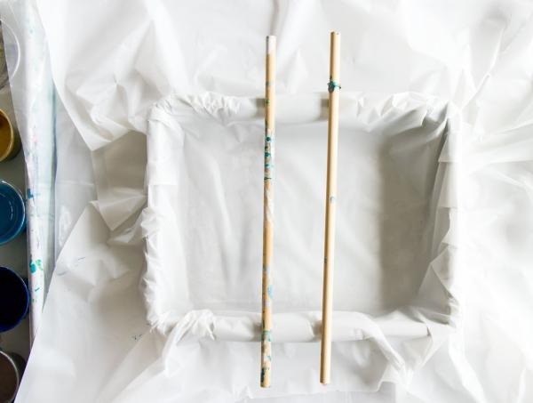 technique de peinture acrylique pouring