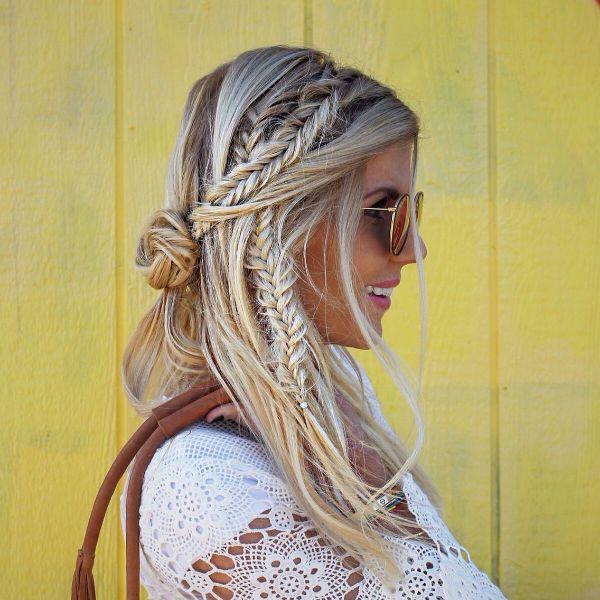 tenue tendance 2020 idée coiffure bohème femme
