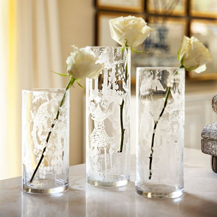 vases uniques diy projet gravure chimique sur verre