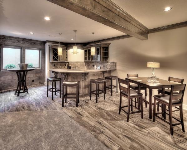 aménagement sous-sol cuisine