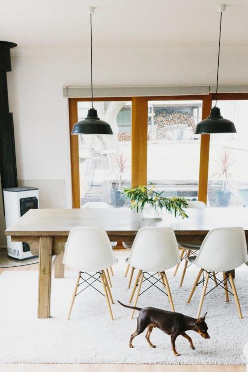 ameublement maison la symétrie dans la salle à manger