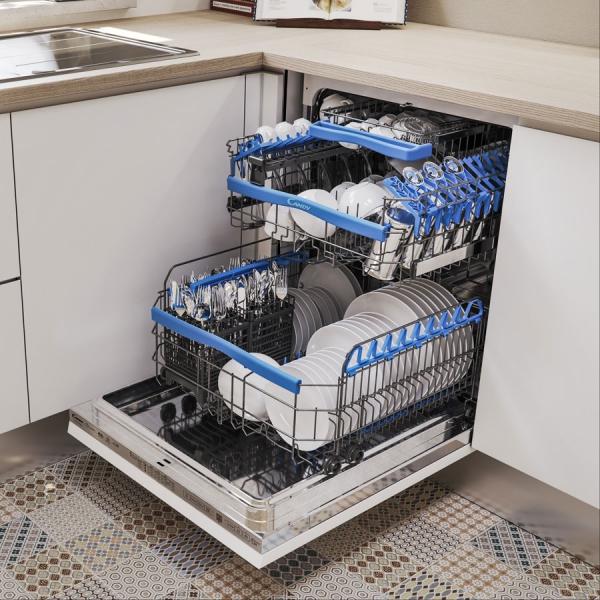 appareils de cuisine lave-vaisselle bien rangé