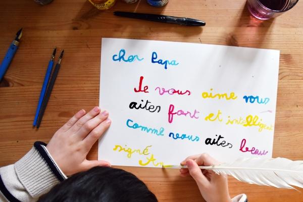 belle écriture à la main écrire correctement