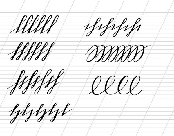 belle écriture à la main écrire les éléments