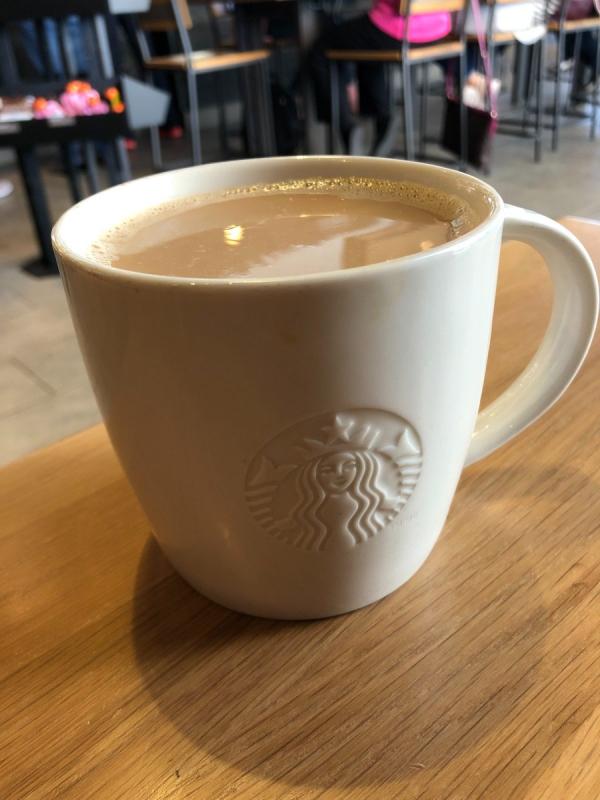 boire du café avec du lait