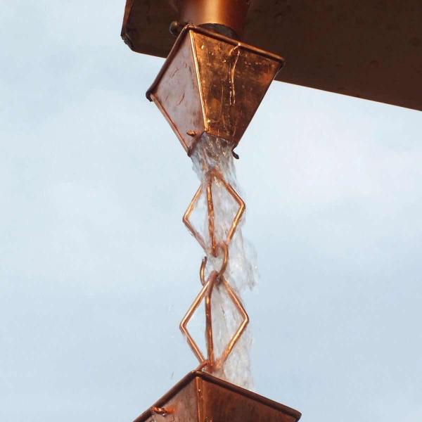 chaîne de pluie faite en cuivre