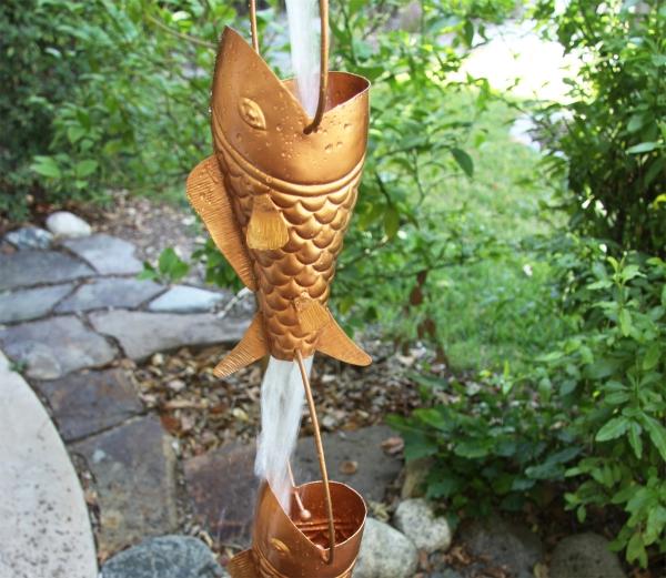 chaîne de pluie figurines de poissons