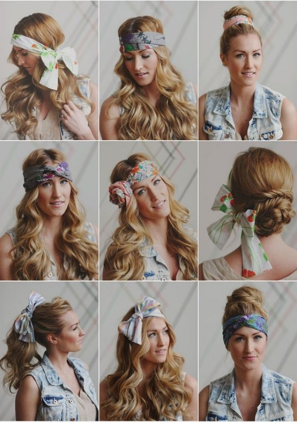 coiffure avec foulard femme