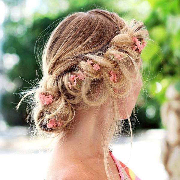 coiffure avec tresse couronne de princesse
