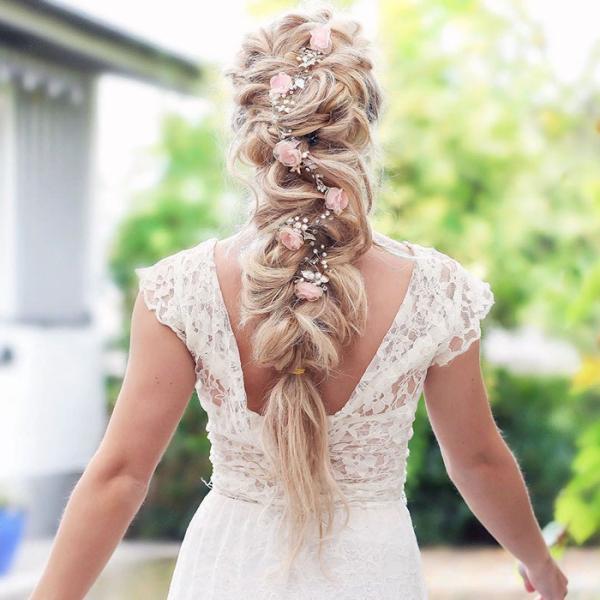 coiffure avec tresse sublimer le mariage