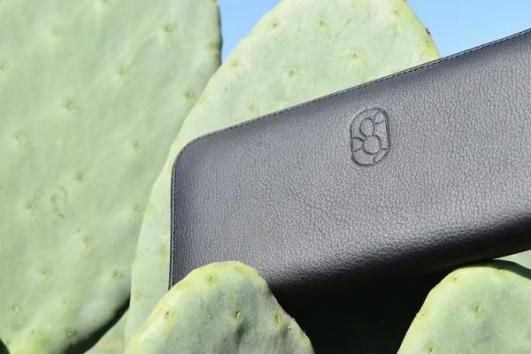 cuir artificiel de cactus produit avec logo