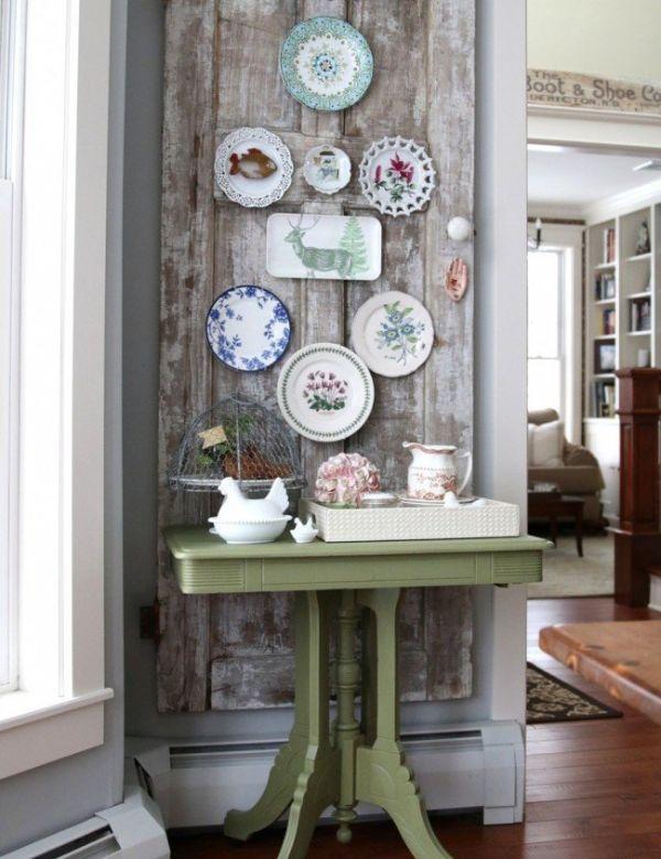 déco murale vaisselle ancienne