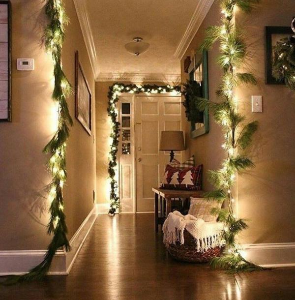 décoration d'entrée de maison déco de Noël
