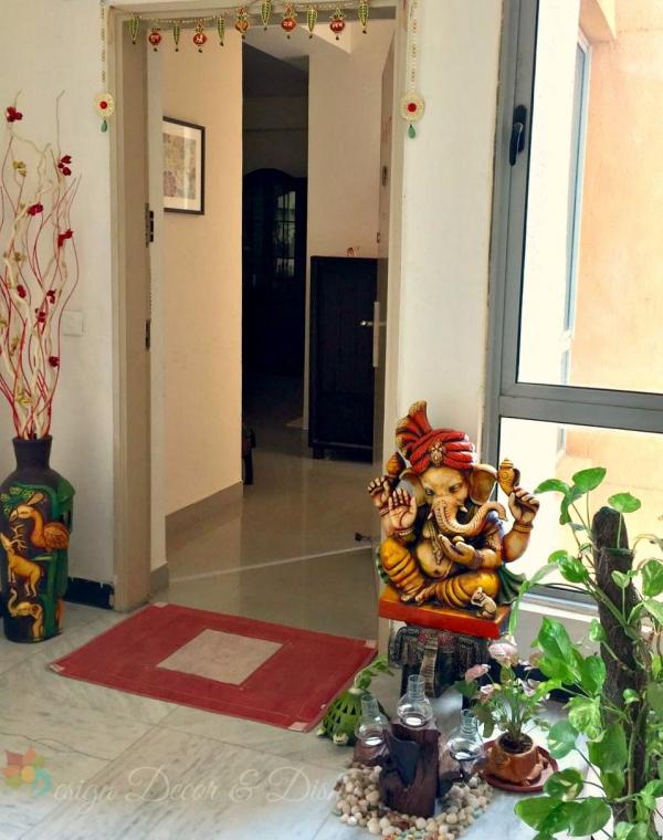 décoration d'entrée de maison décor indien