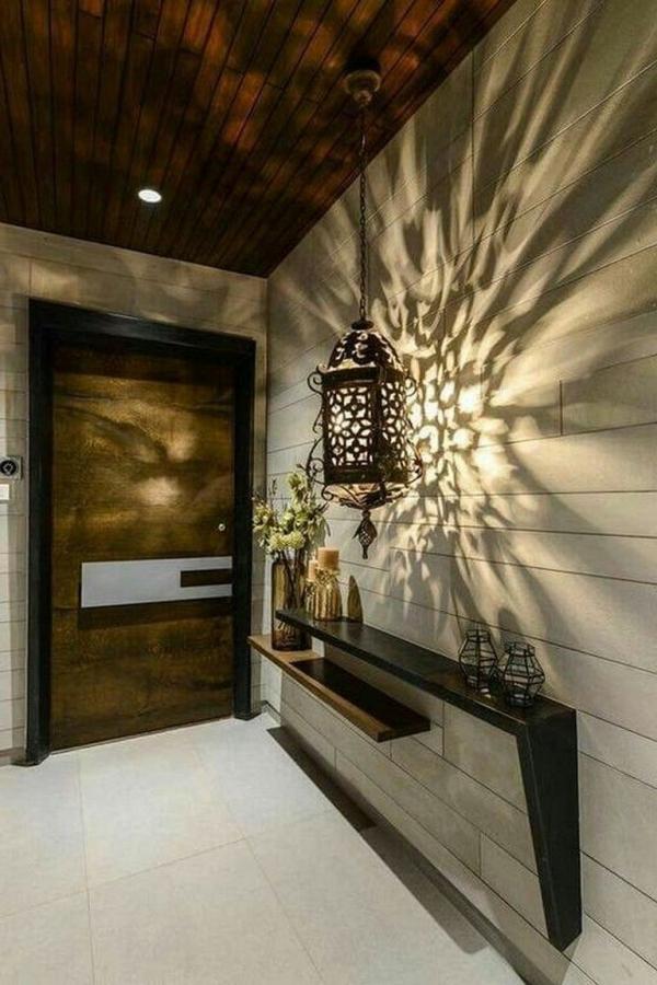décoration d'entrée de maison de jolis reflets