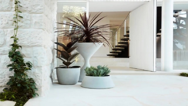décoration d'entrée de maison des pots originaux