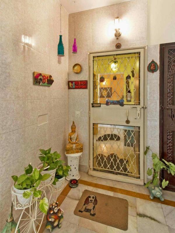 décoration d'entrée de maison esprit indien