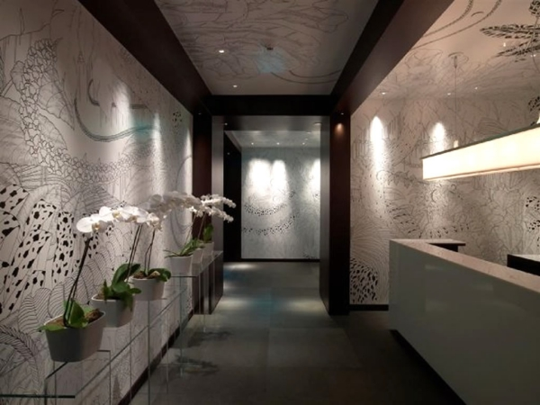 décoration d'entrée de maison lumières LED