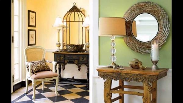 décoration d'entrée de maison meubles anciens