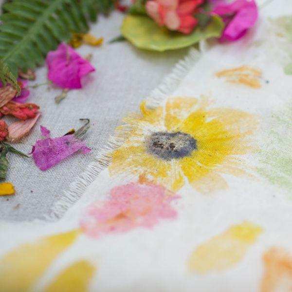décoration unique sur tissu tataki zomé technique japonaise