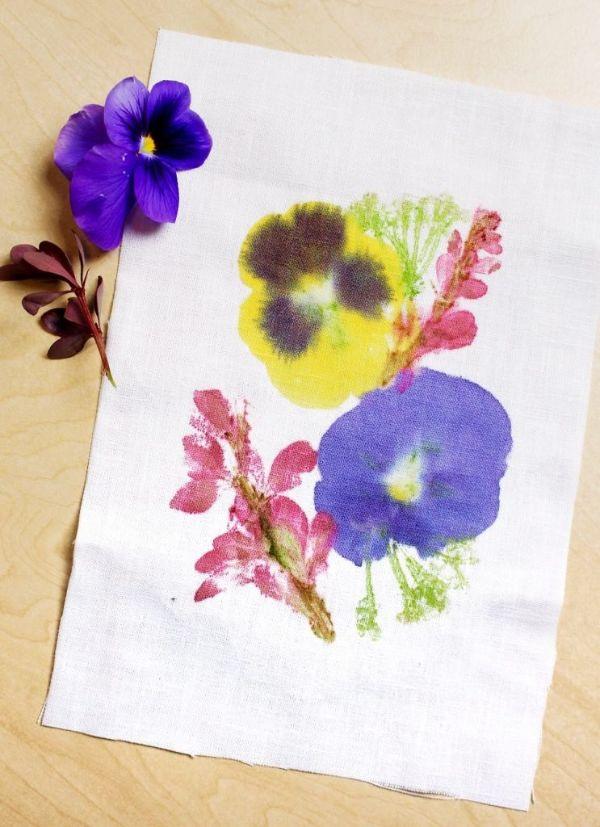 décoration végétale sur tissu tataki zomé