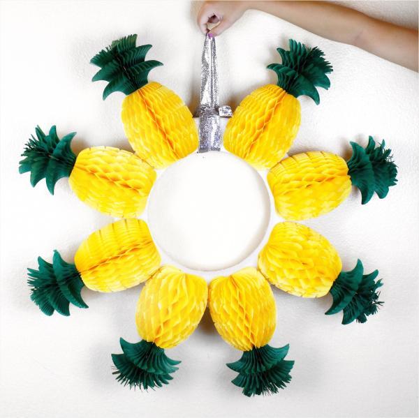 diy couronne de porte ananas pour l'été