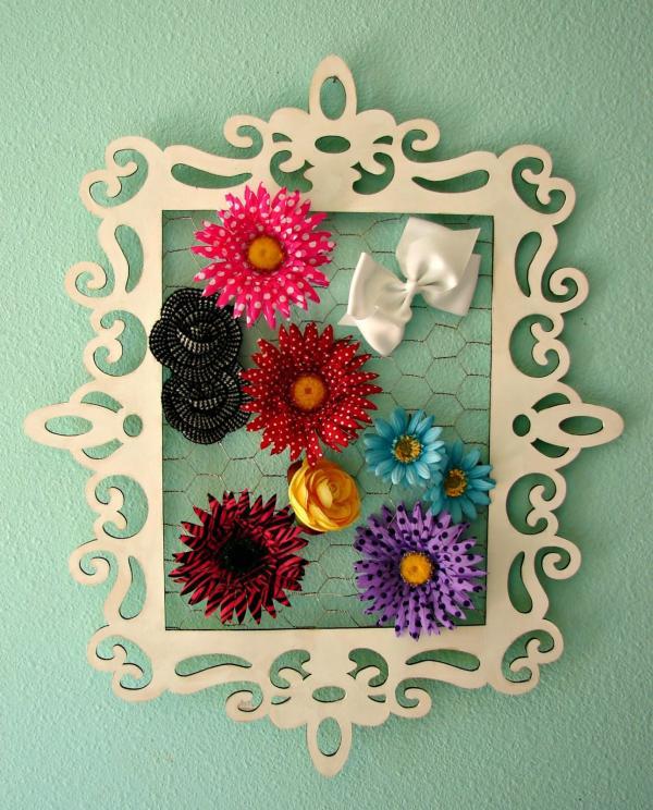 diy couronne de porte pour l'été fleurs en papier de soie