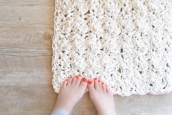 diy tapis en corde au crochet