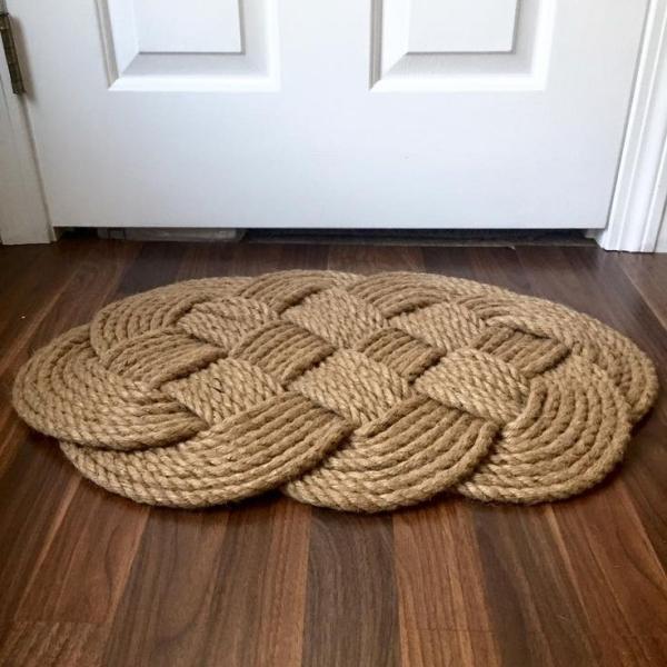 diy tapis en corde tressée
