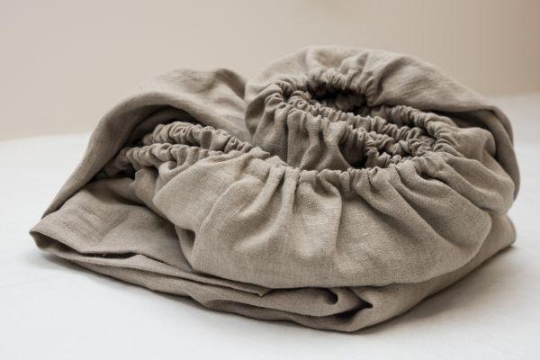 draps avec élastique pour lit linge de lit en lin lavé