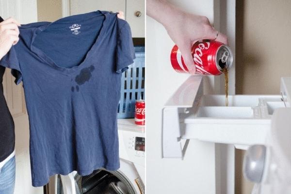 enlever les taches du textile à l'aide de coca-cola