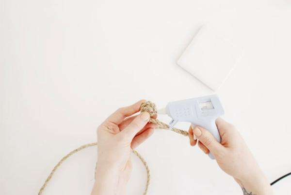 fabriquer un tapis en corde étape 2-1