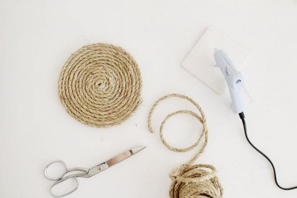 fabriquer un tapis en corde étape 4