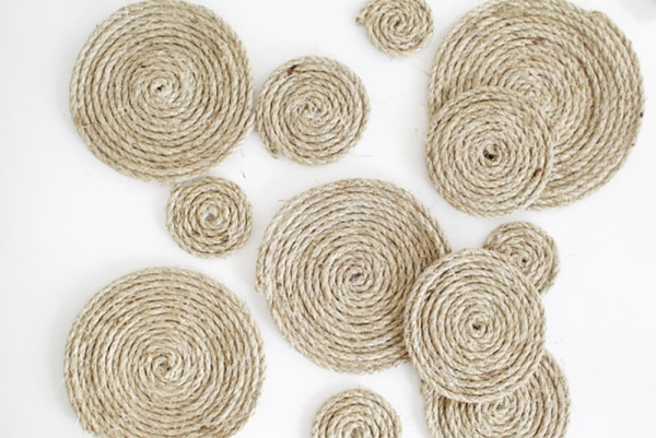 fabriquer un tapis en corde étape 5