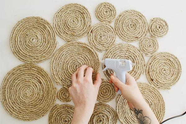 fabriquer un tapis en corde étape 6