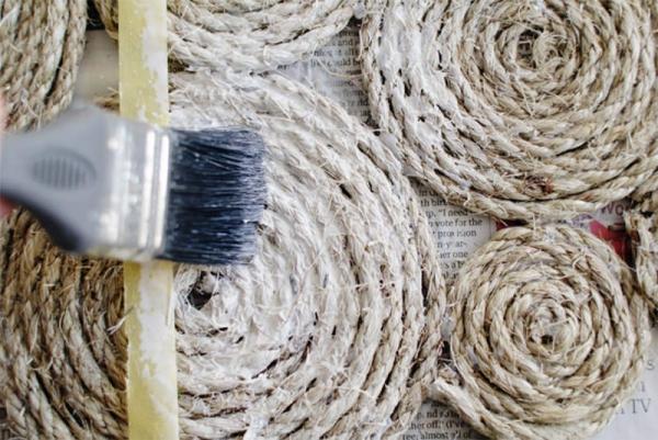 fabriquer un tapis en corde étape 7-1