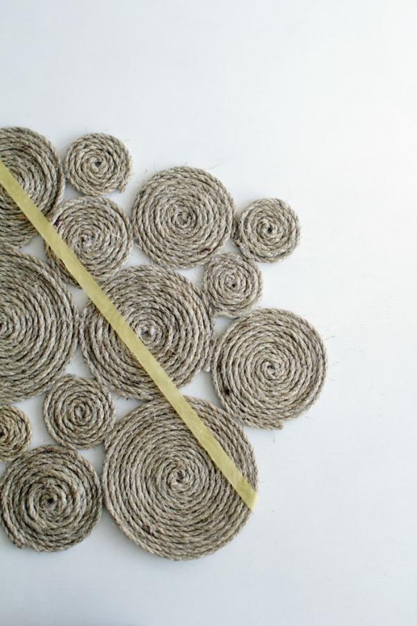 fabriquer un tapis en corde étape 7