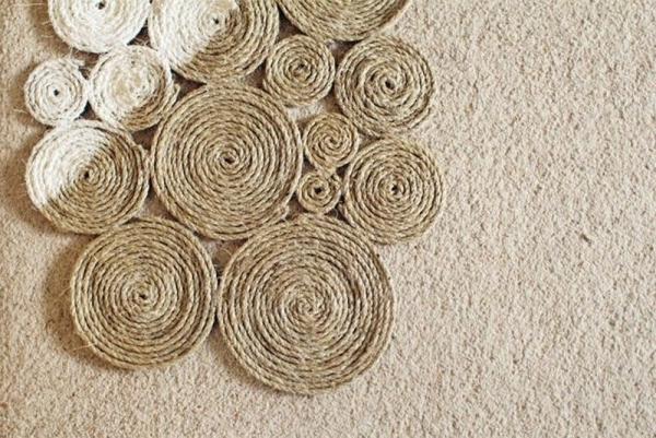 fabriquer un tapis en corde