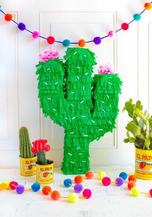 fabriquer une piñata cactus