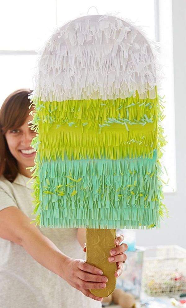 fabriquer une piñata crème glacée sur bâton