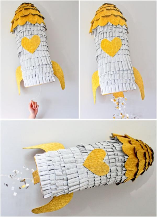 fabriquer une piñata dans la forme de fusée
