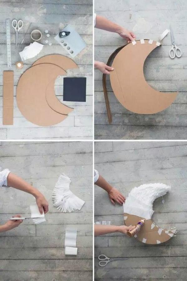 fabriquer une piñata lune