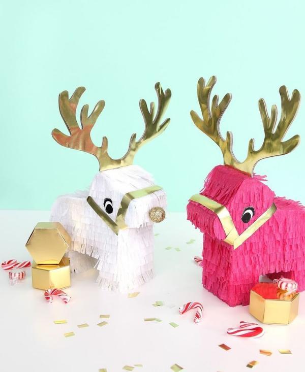 fabriquer une piñata renne