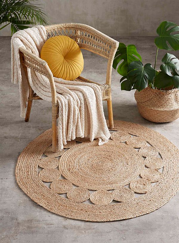 fibres naturelles idée aménagement salon de jardin