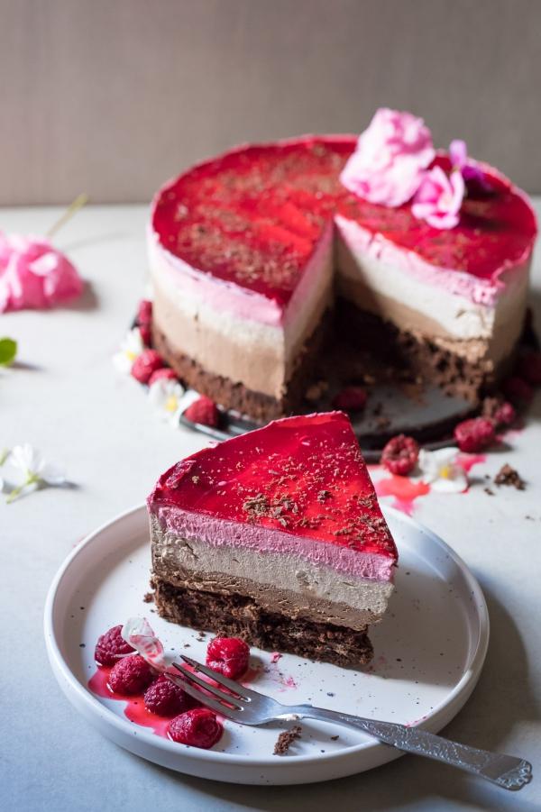 gâteau sans gluten chocolat à quelques couches