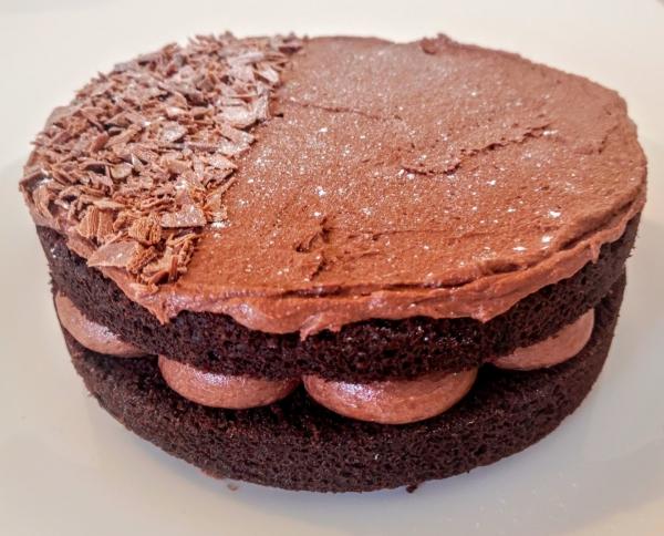 gâteau sans gluten chocolat deux étages