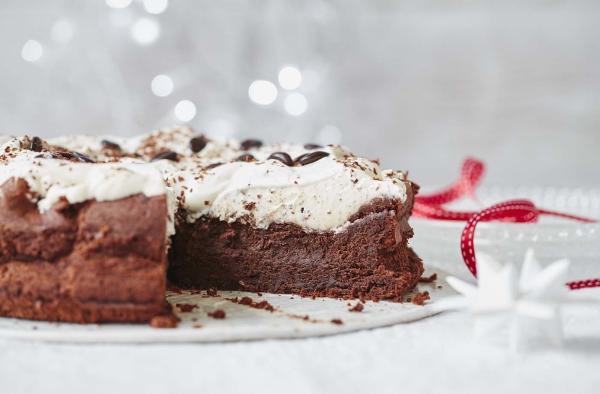 gâteau sans gluten chocolat glaçage blanc